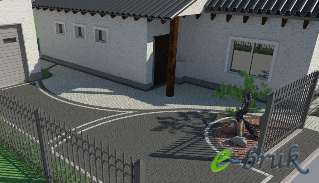 Profesjonalne Projekty Kostki Brukowej Wzory Wizualizacja 3d