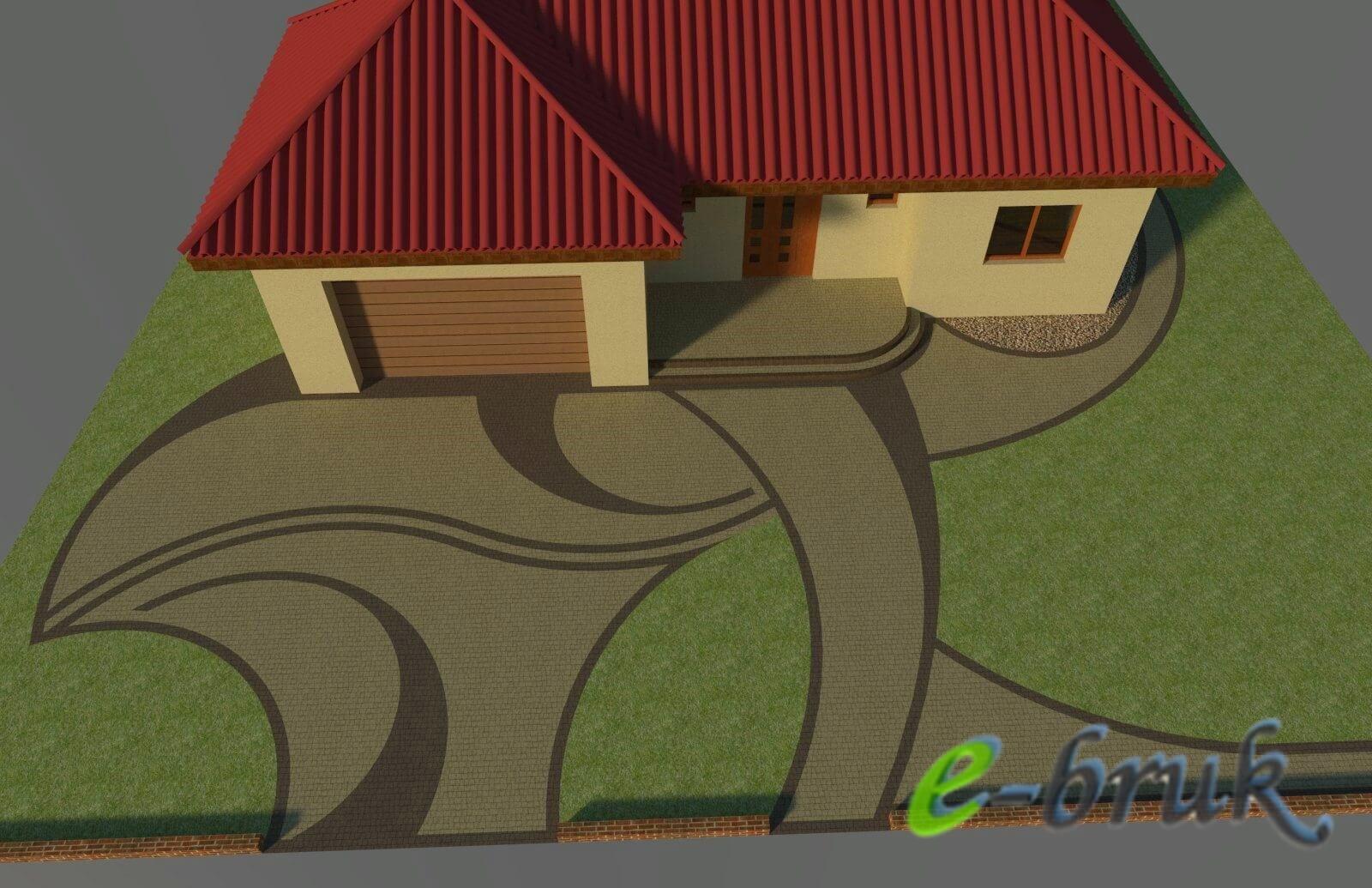 Wybitny PROFESJONALNE PROJEKTY KOSTKI BRUKOWEJ, wzory, wizualizacja 3D KE35